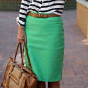 [J. Crew] No. 2 pencil skirt double-serge cotton